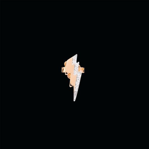 DODO SPRING - ORECCHINO FULMINE - Orecchino singolo in oro rosa 9 kt e diamanti bianchi - DOHFUL/9/B