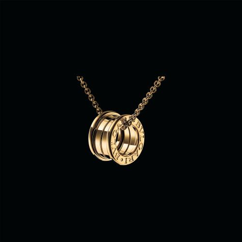 Pendente B.zero1 in oro giallo 18 carati. Diametro 1,52 cm