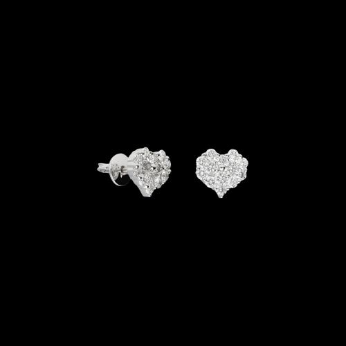 Orecchini in oro bianco 18 carati e diamanti bianchi taglio brillante