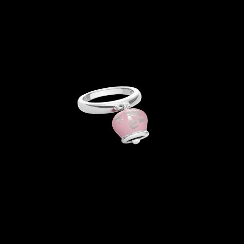 Anello Chantecler Campanelle in argento e smalto rosa