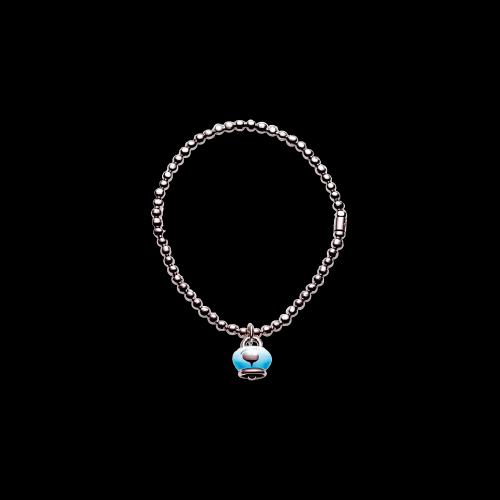 Bracciale Chantecler Campanella in argento e smalto azzurro