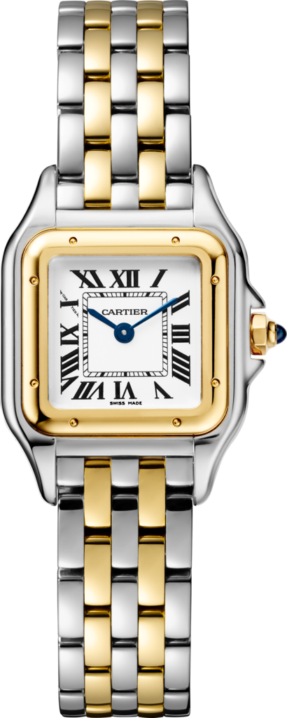 PANTHÈRE DE CARTIER WATCH SMALL MODEL, YELLOW GOLD AND STEEL - W2PN0006