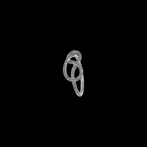 Anello Infinito in oro bianco 18 carati e diamanti bianchi taglio brillante