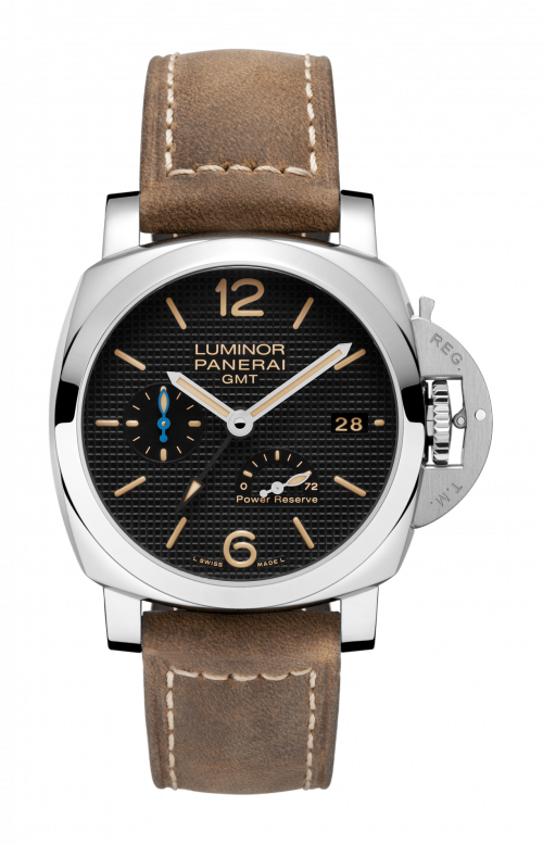 LUMINOR 1950 3 DAYS GMT POWER RESERVE AUTOMATIC ACCIAIO - 42 MM - PAM01537