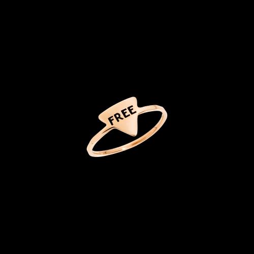 DODOTAGS - ANELLO FREE - Anello in oro rosa 9 kt. - ADTRI9/FREE/K