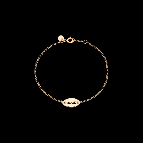 DODOTAGS - BRACCIALE GOOD/BAD -  Bracciale Double Face in oro rosa 9 kt - DB11/9/GOOD/K