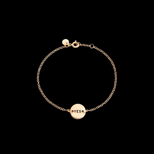 DODOTAGS - BRACCIALE YES/NO - Bracciale Double Face in oro rosa 9 kt - DB7/9/YESNO/K