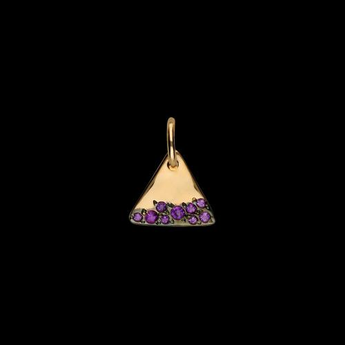 DODO DODOTAGS - PRECIOUS TAG - Ciondolo in oro rosa 9 kt con ametiste - DM4/9/OI/K
