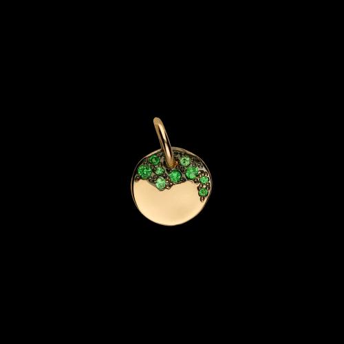 DODO DODOTAGS - PRECIOUS TAG - Ciondolo in oro rosa 9 kt con tsavoriti - DM7/9/TZ/K
