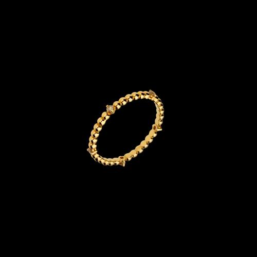 Anello in oro rosa 18 carati con diamanti brown taglio brillante