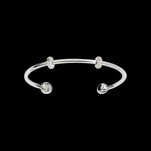DODO BRACCIALE CUFF - Bracciale cuff in argento con due stopper inclusi - DBCUFF/G/A/K