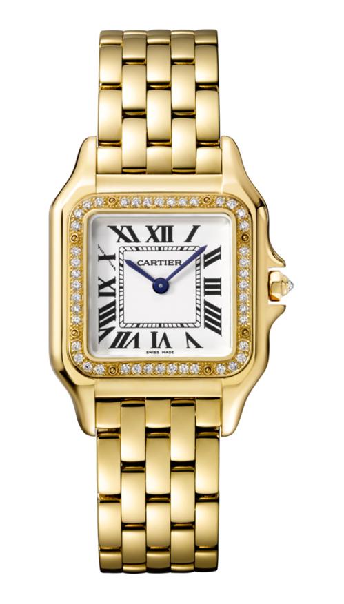 PANTHÈRE DE CARTIER WATCH MEDIUM MODEL, YELLOW GOLD, DIAMONDS - WJPN0016