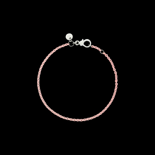 DODO FOLLOW YOUR DREAMS - BRACCIALE IN ARGENTO ROSA PASTELLO - Bracciale in argento laccato rosa pastello - DB/APR/K