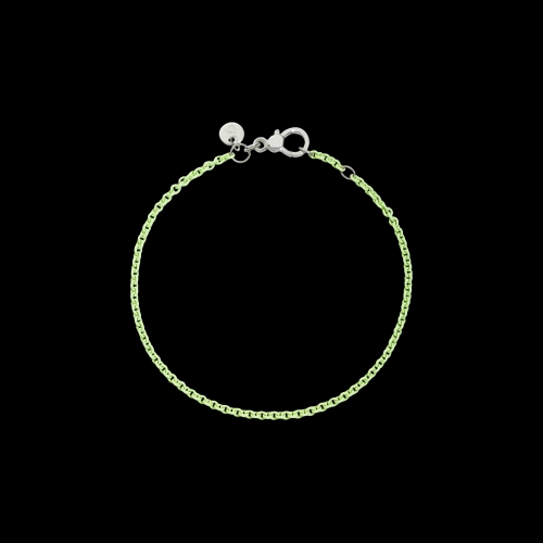 DODO FOLLOW YOUR DREAMS - BRACCIALE IN ARGENTO VERDE PASTELLO - Bracciale in argento laccato verde pastello - DB/APV/K