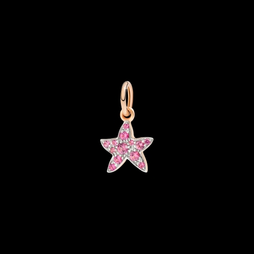 DODO FOLLOW YOUR DREAMS - STELLA MARINA - Ciondolo in oro rosa 9kt e spinello rosso - D3STP/9/SP/K