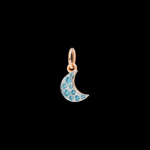 DODO FOLLOW YOUR DREAMS - LUNA - Ciondolo in oro rosa 9kt e topazio blu - DMLU/9/YS/K
