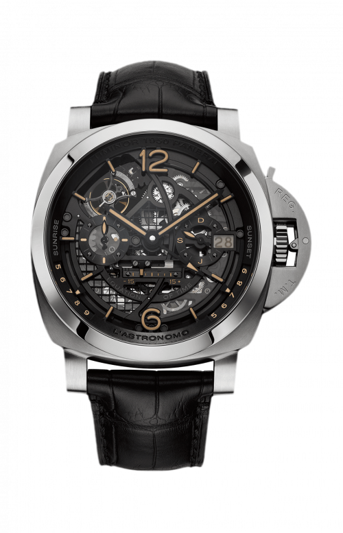 L'ASTRONOMO LUMINOR 1950 TOURBILLON MOON PHASES EQUATION OF TIME GMT – 50MM - PAM00920