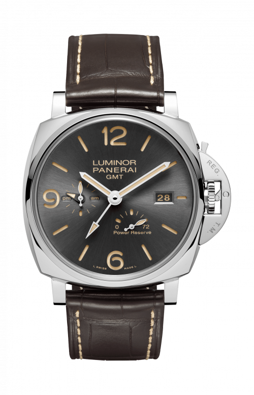 LUMINOR DUE 3 DAYS GMT POWER RESERVE AUTOMATIC ACCIAIO – 45MM - PAM00944