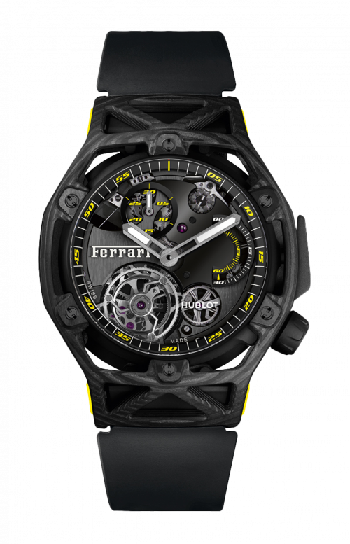 TECHFRAME FERRARI TOURBILLON CHRONOGRAPH CARBON YELLOW - LIMITED EDITION 70 PZ. - 408.QU.0129.RX