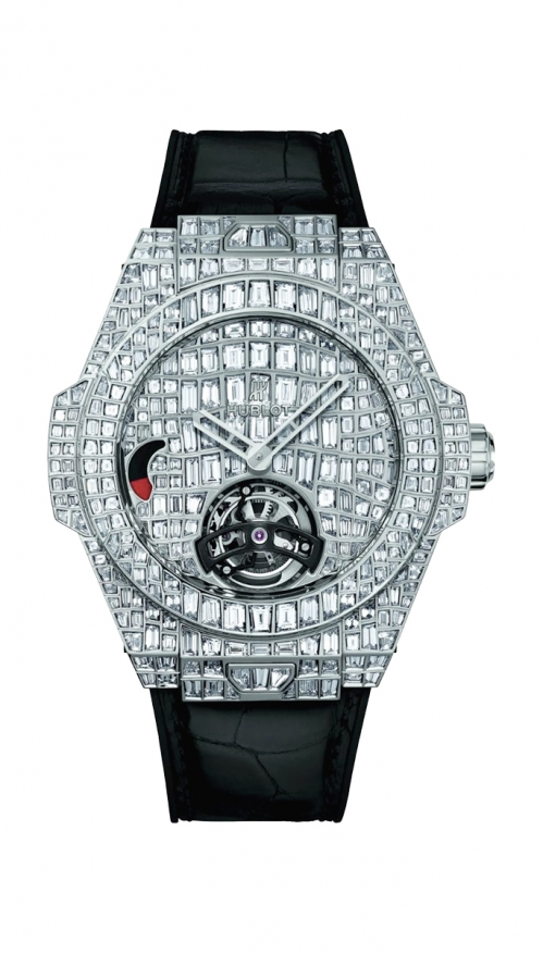 BIG BANG TOURBILLON CROCO BANG HIGH JEWELLERY - 405.WX.9204.LR.9904