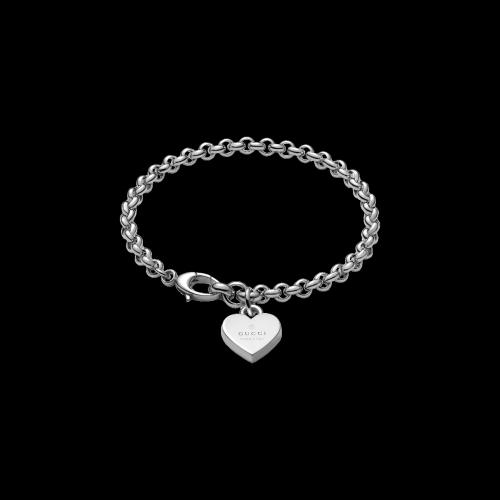 Bracciale Trademark in argento con cuore charms - YBA3562100010