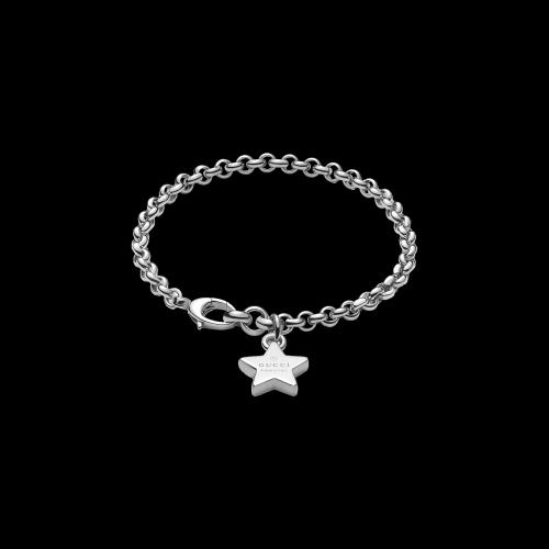Bracciale Trademark in argento 750 con ciondolo charm stellina integrato -  YBA3562130010