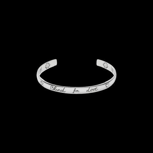 Bracciale rigido Blind For Love in argento inciso - YBA4552420010
