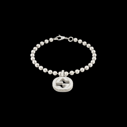 Bracciale Interlocking in argento con charms integrato - YBA4792260010