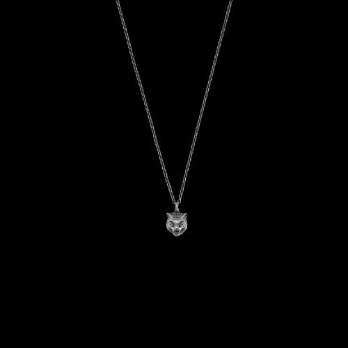 Collana Gucci Testa di Tigre in Rgento 60 cm - YBB43360800100U