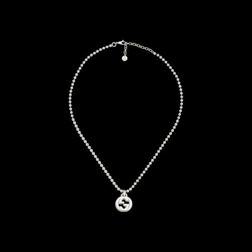 Collana Gucci Interlocking in argento misura 45 cm - YBB47921900100U