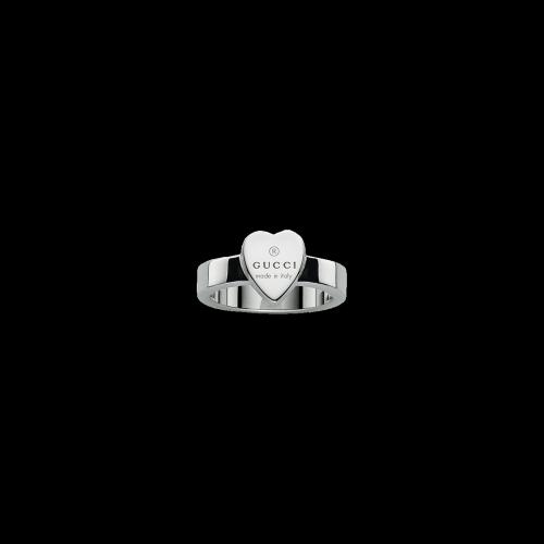 Anello Gucci Boule in argento forma cuore - YBC2238670010