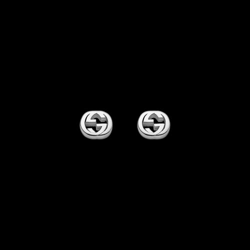 Orecchini Gucci Interlocking in aregnto GG logo  - YBD35628900100U