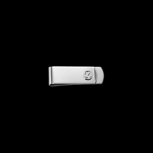 Fermasoldi Gucci Interlocking in argento - YBF34308600100U