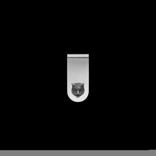Fermasoldi Gucci Gatto in argento - YBF45690500100U