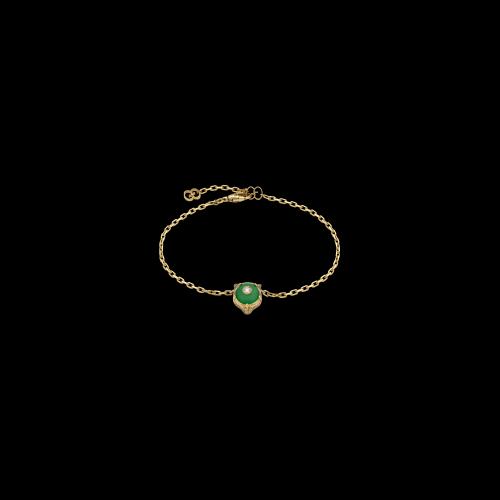 Bracciale Gucci Le Marche Des Merveilles in oro giallo , giada verde e diamante bianco - YBA5028520010