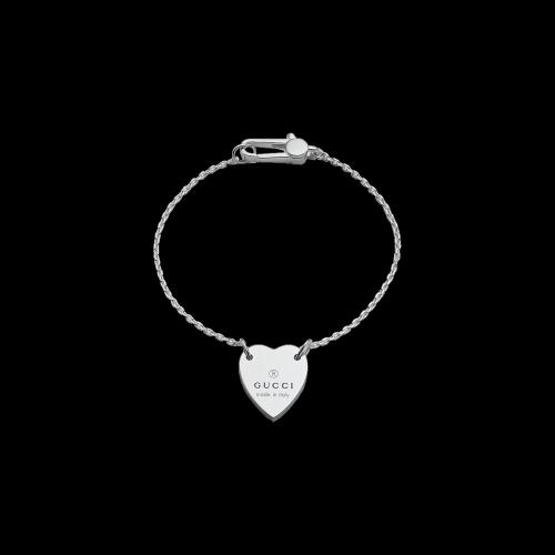 Bracciale Gucci Trademark con ciondolo cuore - YBA2235130010