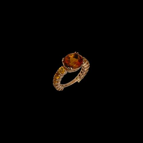 Anello in oro rosa e Topazio Madera -  possibilità di messa a misura