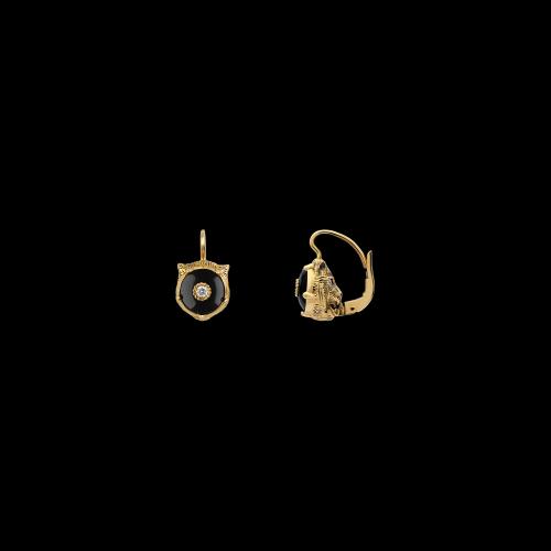Orecchini Gucci Le Marche Des Merveilles in oro giallo , onice e diamanti bianchi - YBD50283100300U