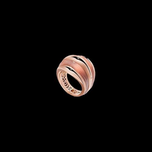 Anello Damiani Spicchi di Luna in oro rosa e pietra del sole - diamante bianco - 20076843