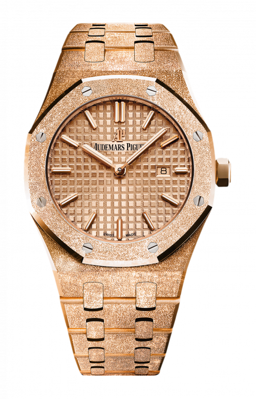ROYAL OAK FROSTED GOLD QUARZO - 67653OR.GG.1263OR.02