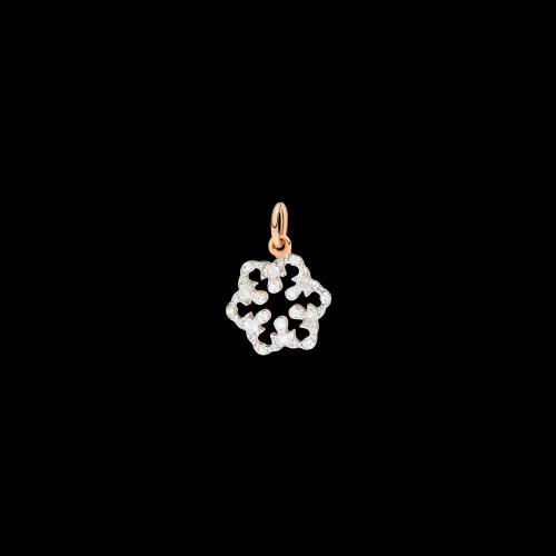Dodo Chistmas Fiocco di Neve in oro rosa e diamanti - DMSF/9/BI/K