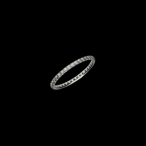 Veratta a giro intero inoro biancoe diamanti bianchi