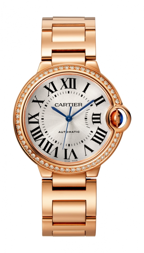 BALLON BLEU DE CARTIER36 MM, ORO ROSA, DIAMANTI - WJBB0037