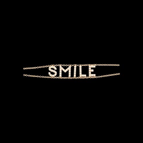 SMILE - Bracciale in oro rosa e diamanti bianchi
