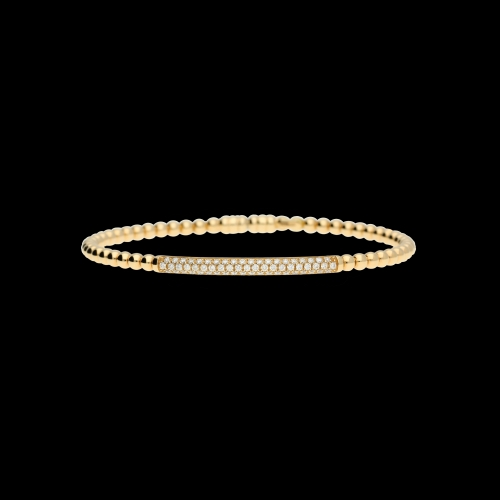 Bracciale semirigido in oro rosa e diamanti bianchi