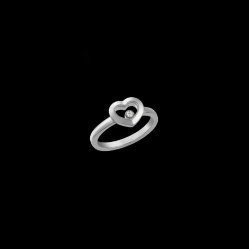 CHOPARD - HAPPY DIAMONDS ICONS - ANELLO CUORE IN ORO BIANCO CON DIAMANTE - 82A054-1110
