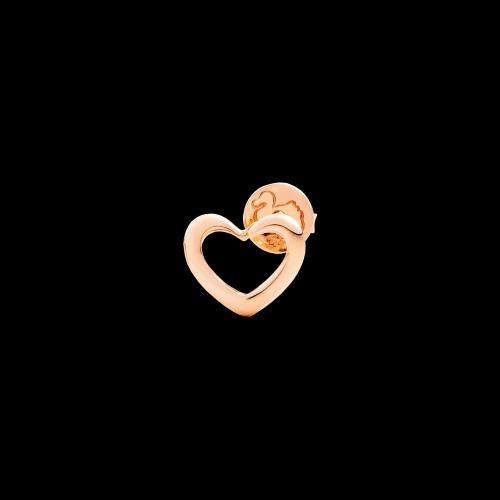 DODO VALENTINE'S - CUORE - orecchino singolo cuore in oro rosa 9 kt - DOHCUT/9/K