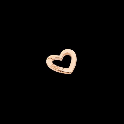 DODO VALENTINE'S - CUORE - moschettone cuore in oro rosa 9 kt - piccolo - DTCUT/9/P/K
