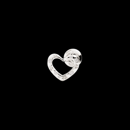 DODO VALENTINE'S - CUORE - orecchino singolo cuore in oro bianco 9 kt - DOHCUT/9B/B/K
