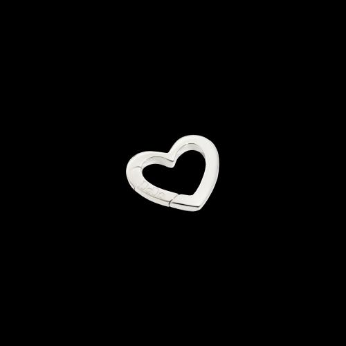 DODO VALENTINE'S - CUORE - moschettone cuore in argento - GRANDE - DTCUT/A/G/K